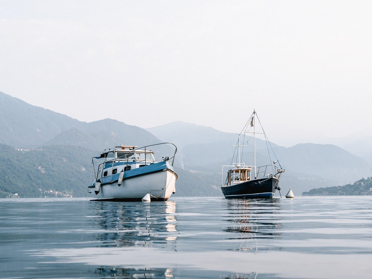 boat, fishing, lake