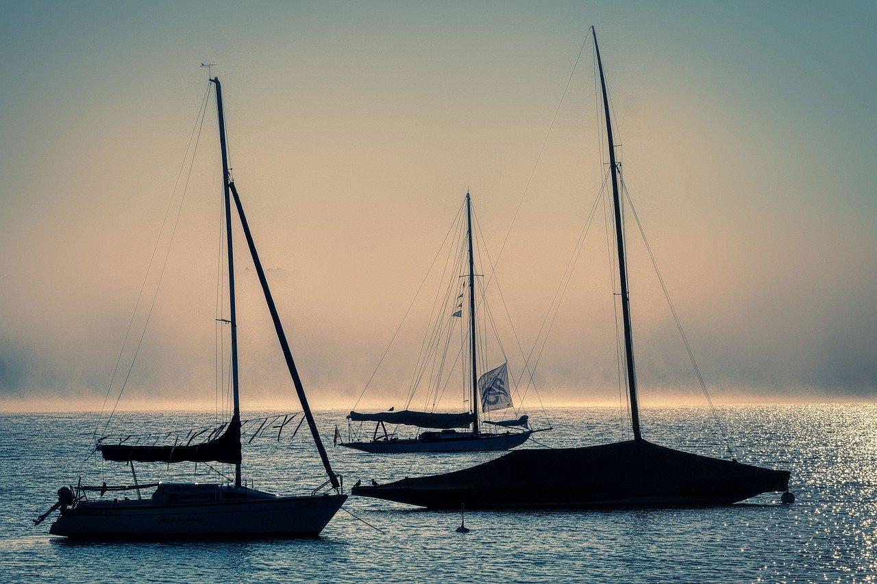 sail, boats, lake