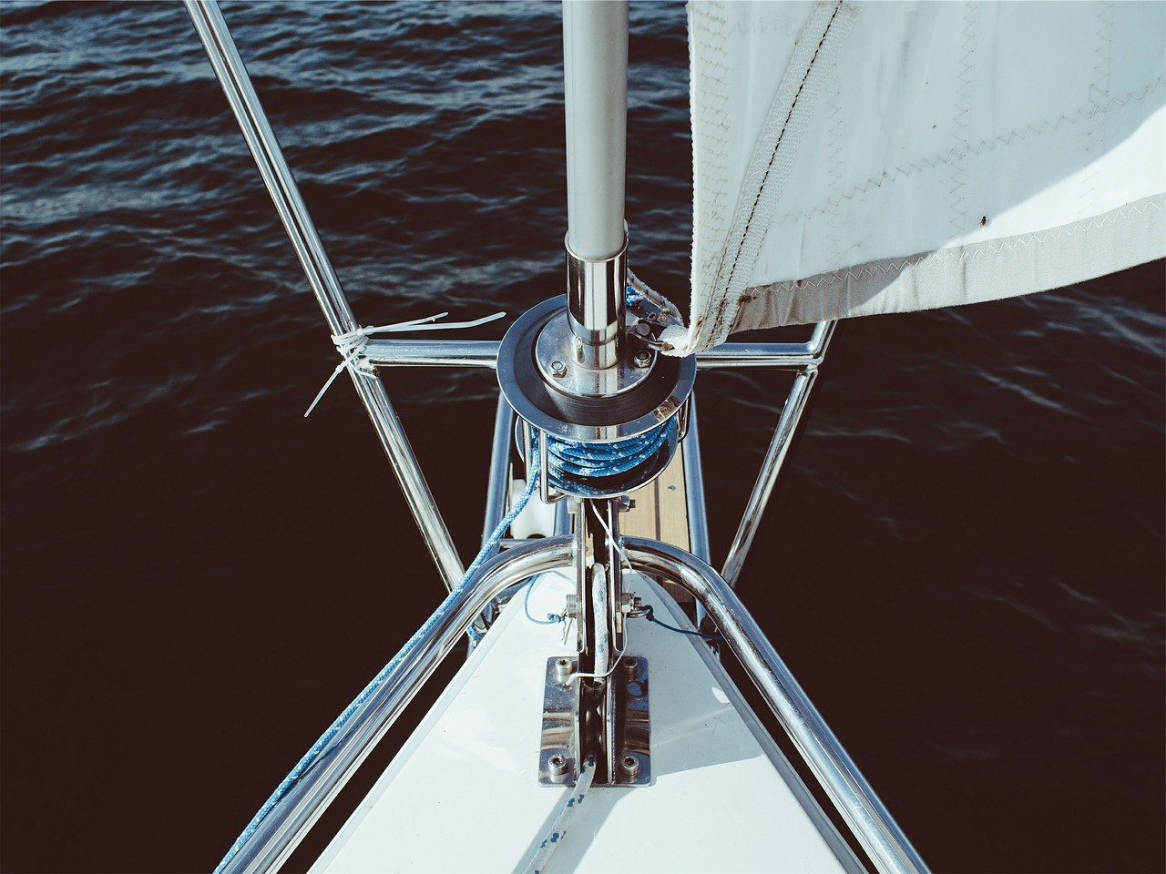 sailing, boat, stem